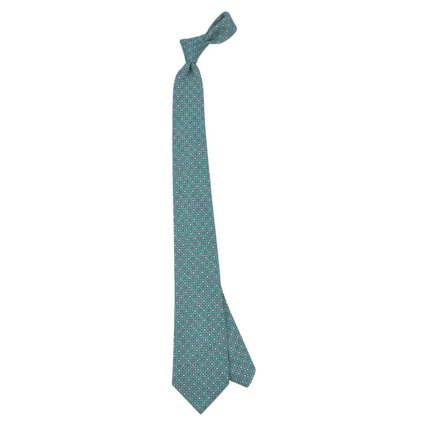 Green With Tan Circles Tie