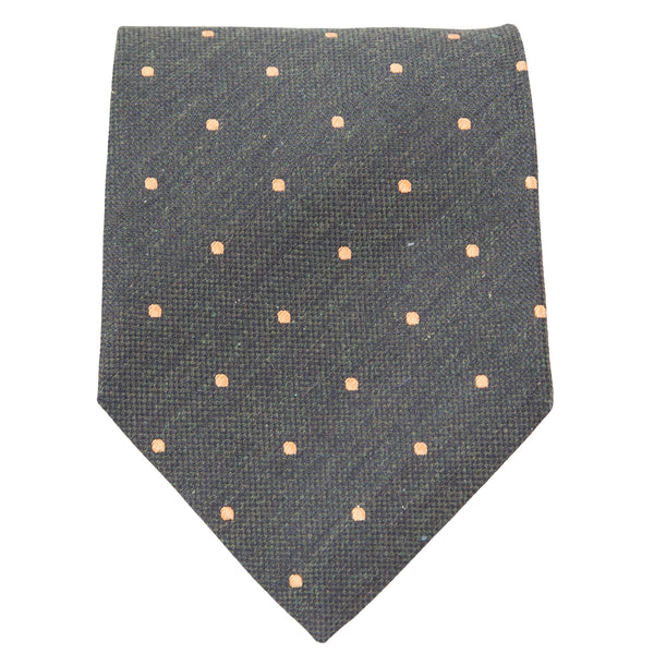 GREEN WITH ORANGE DOTS TIE