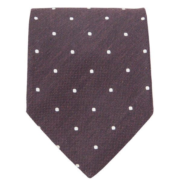BROWN WITH CREAM DOTS TIE