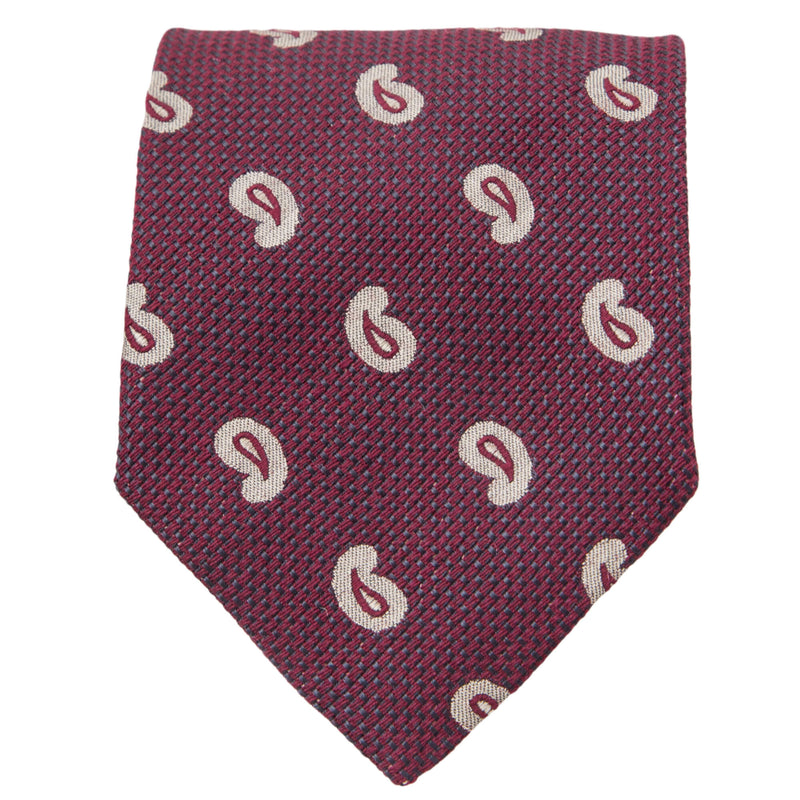 BURGUNDY WITH STONE PAISLEY TIE