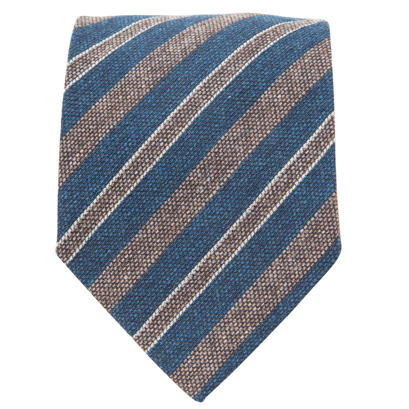 GREEN WITH STONE STRIPES TIE