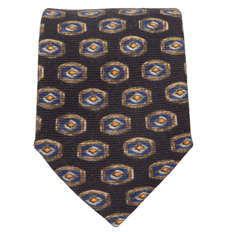 BROWN WITH LIGHT BROWN LOZENGE SHAPE TIE