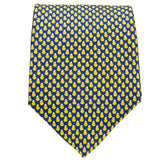 Navy With Yellow Pears Tie
