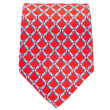 Red With Sky Aubergines Tie