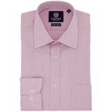 Pink Microcheck Business Shirt - Gagliardi