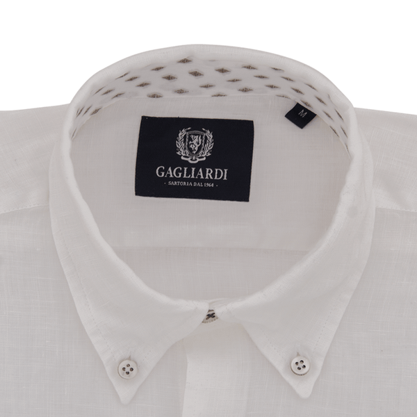 White & Sky Oxford Stripe Business Shirt - Gagliardi