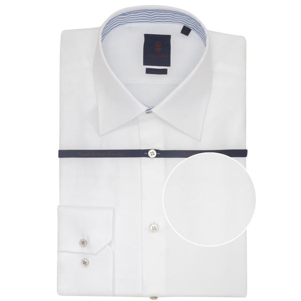 White Circle Dobby Tailored Fit Shirt - Gagliardi