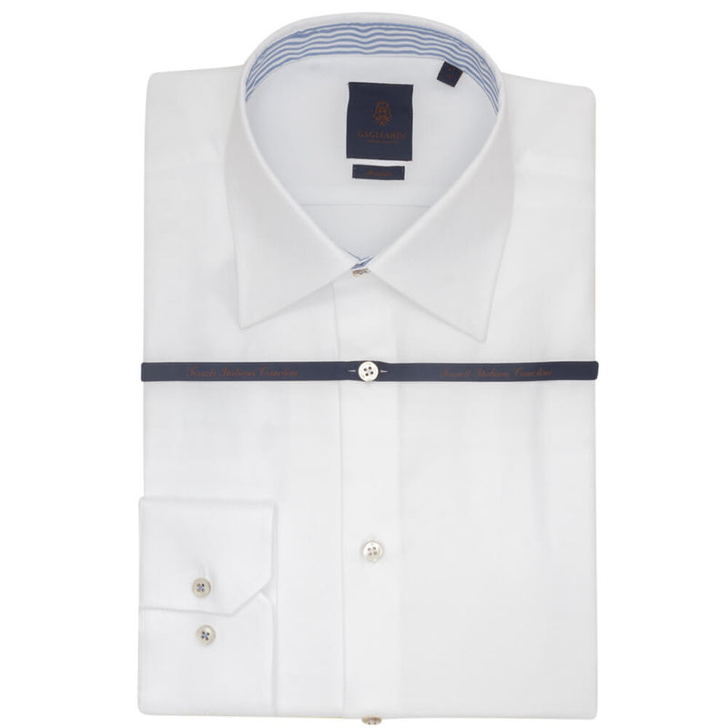 White Circle Dobby Tailored Fit Shirt