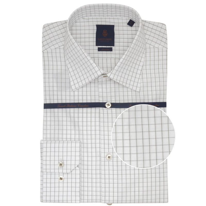 Green Windowpane Tailored Fit Shirt