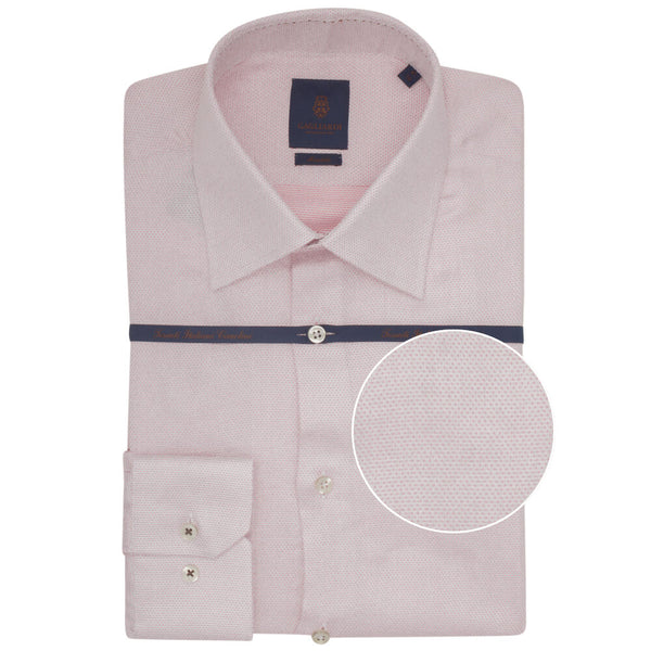 Pink Dobby Tailored Fit Shirt - Gagliardi