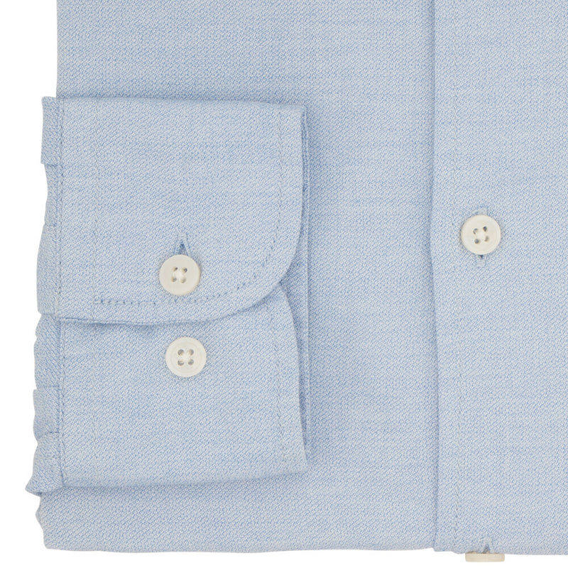 Tailored Fit Blue Cotton Button Down Shirt