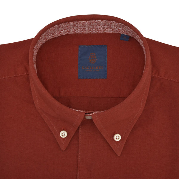Tailored Fit Rust Oxford Button Down Collar Shirt - Gagliardi