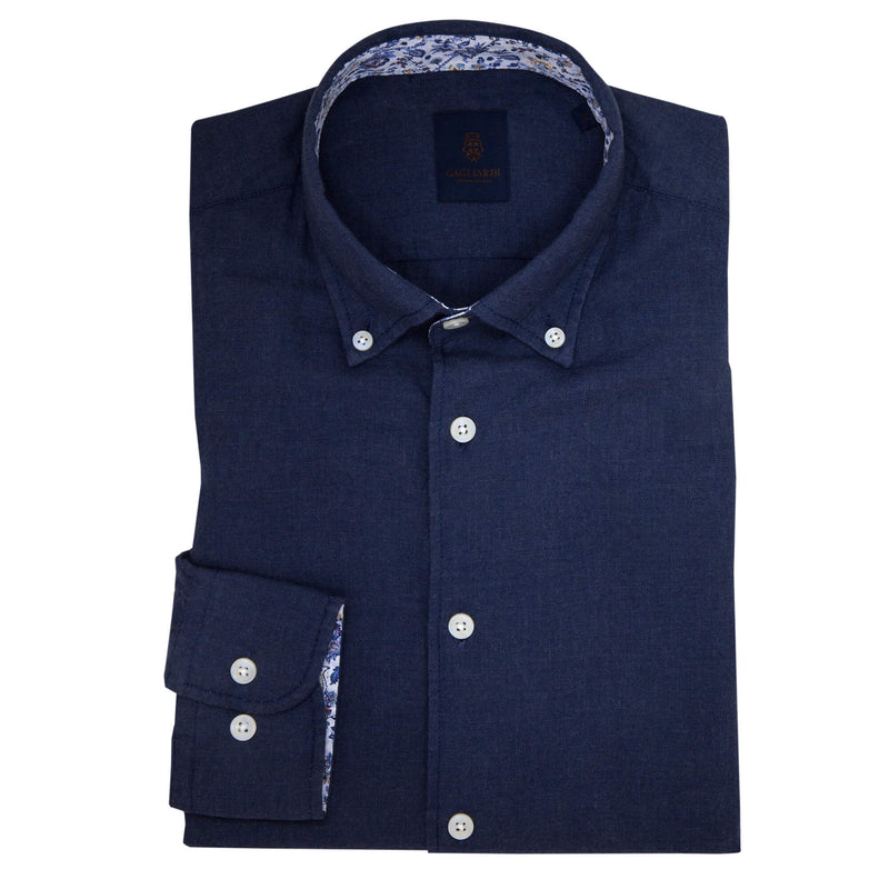 Tailored Fit Blue Cotton Flannel