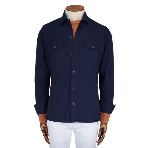 Navy Cotton Overshirt