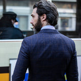 Lanificio F.lli Cerruti Navy Checked Jacket - Gagliardi