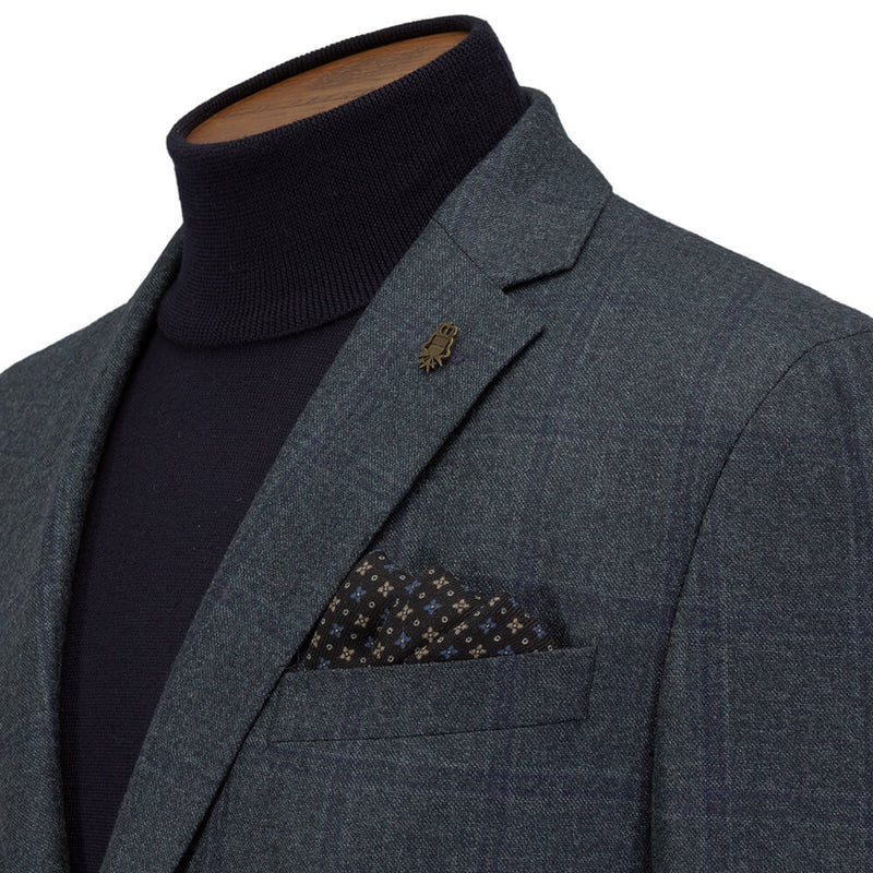 Lanificio Ing. Loro Piana Green Windowpane Checked Jacket
