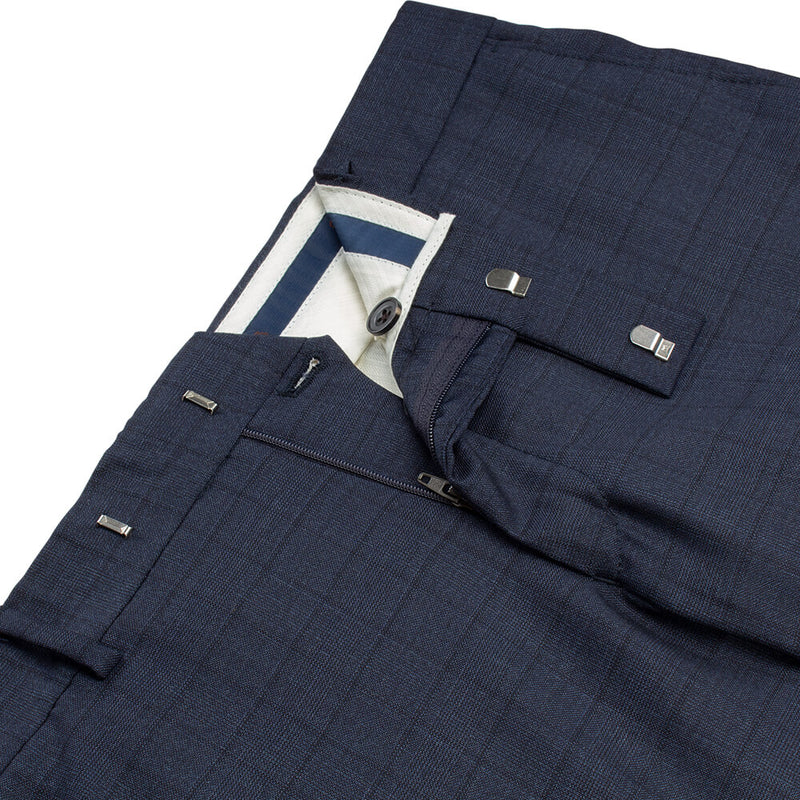 Lanificio Ing. Loro Piana Navy Checked Suit - Gagliardi