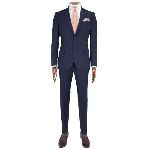 Lanificio Ing. Loro Piana Navy Microweave Two-Piece Suit - Gagliardi