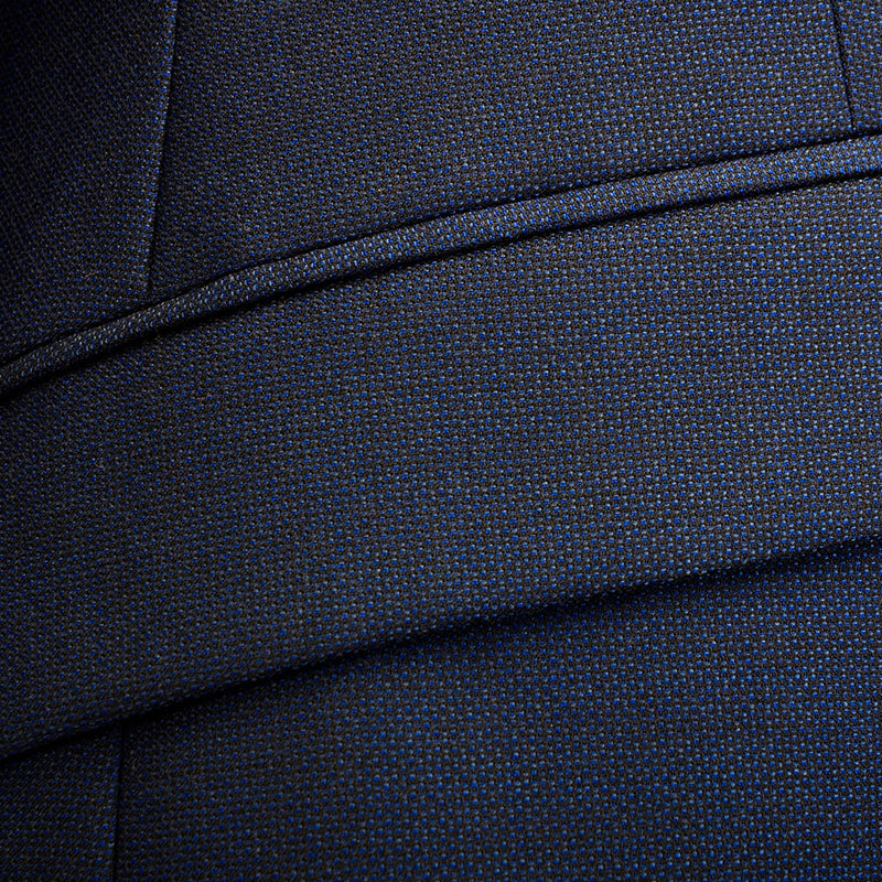 Lanificio Ing. Loro Piana Navy Textured Weave Two-Piece Suit - Gagliardi