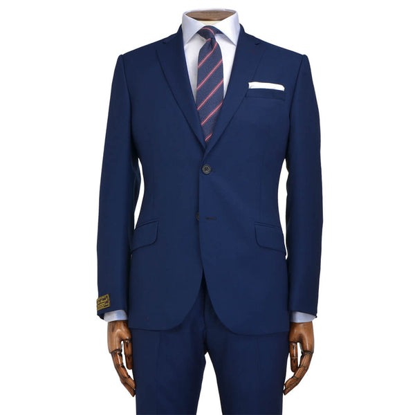 Lanificio Ing. Loro Piana Blue Textured Weave Two-Piece Suit - Gagliardi