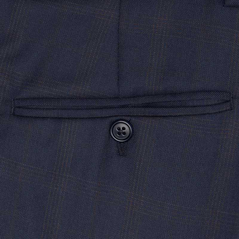 Lanificio Ing. Loro Piana Navy Prince of Wales Check Two-Piece Suit - Gagliardi