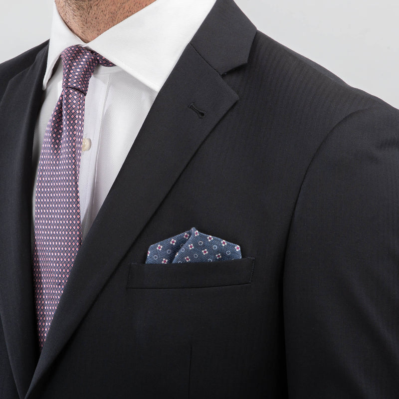 Navy Herringbone Suit Mix & Match