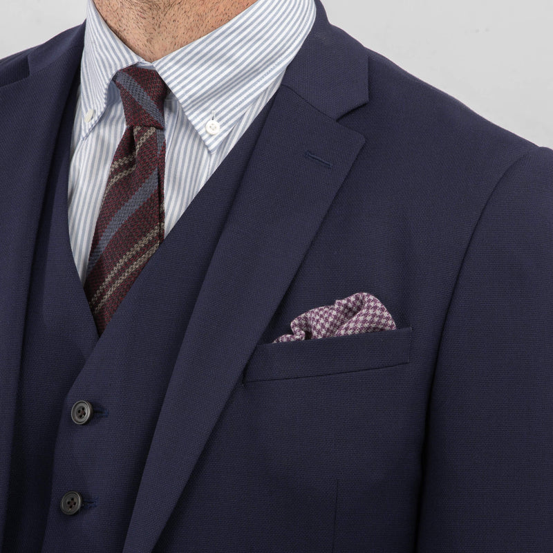 Blue Basketweave Suit Jacket