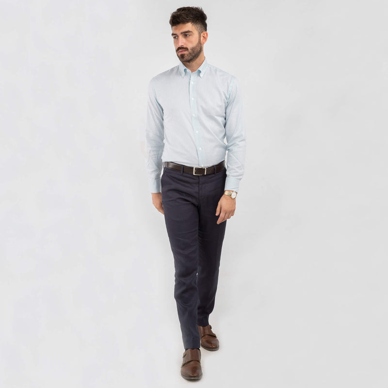 Navy Linen Mix & Match Trousers