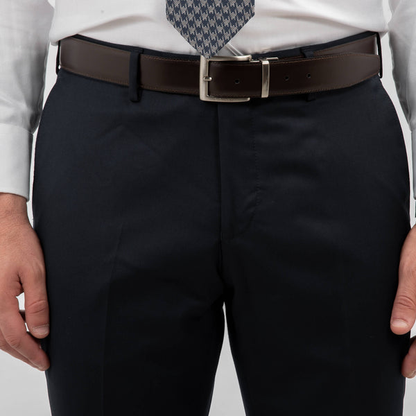 Reda Navy Twill Suit Trousers