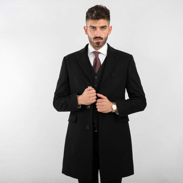 Black Plain Coat