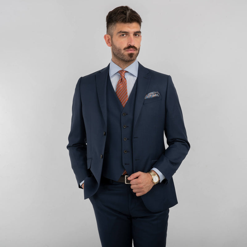 Lanificio F.lli Cerruti Blue Sharkskin Jacket