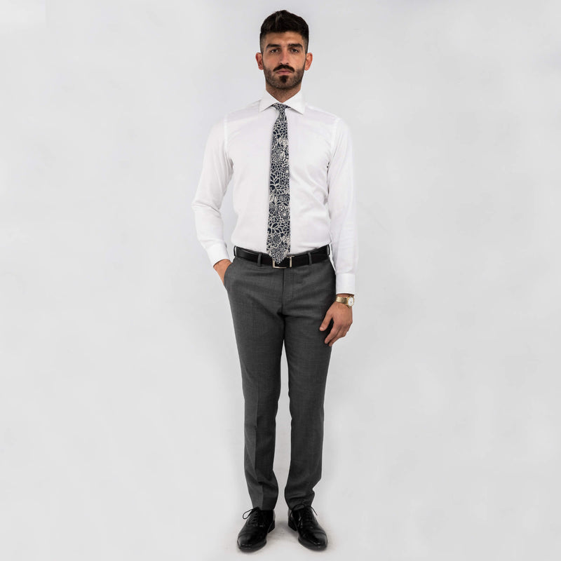 Cloth Ermenegildo Zegna Light Grey Mix and Match Wool Trousers