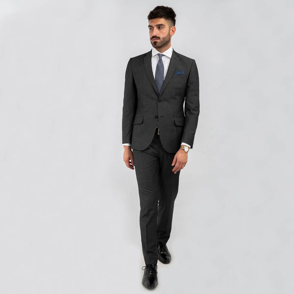 Grey End On End Machine Washable Suit