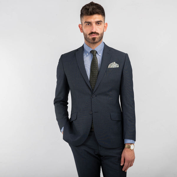 Blue End On End Machine Washable Suit