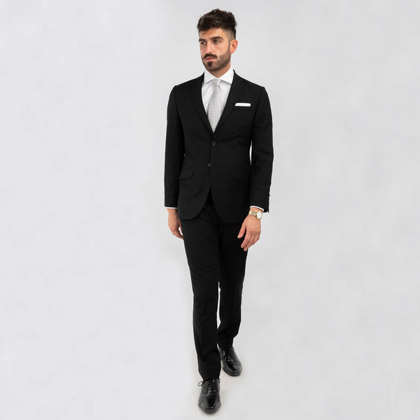 Black Machine Washable Suit