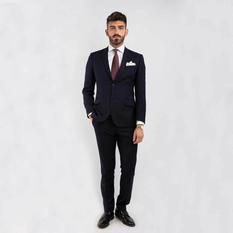 Navy Work Two-Piece Suit
