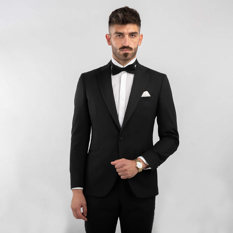 Black Notch Lapel Tuxedo Jacket