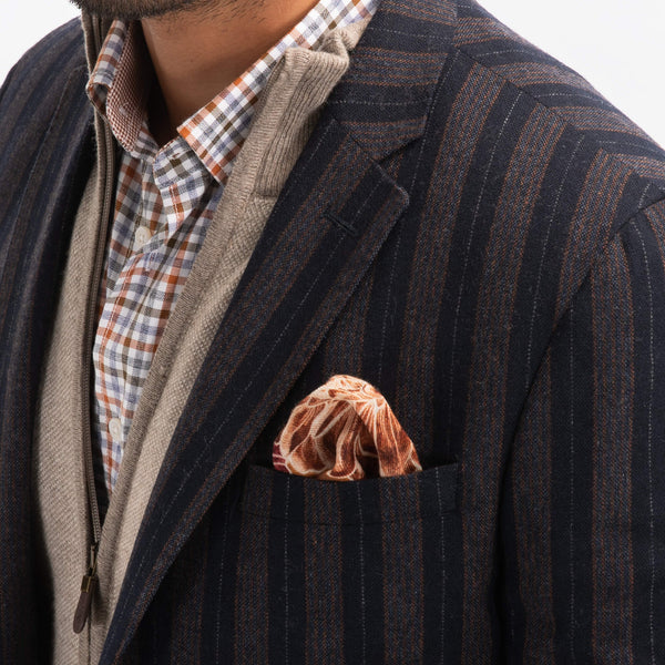 Navy With Orange Stripe Jacket