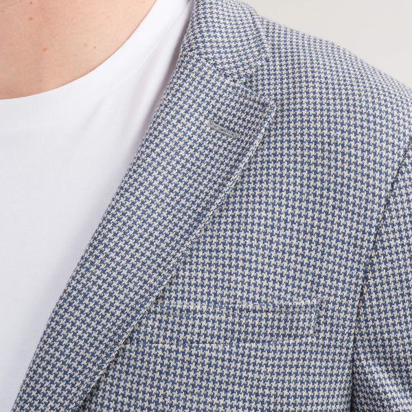 Blue Puppytooth Jersey Jacket