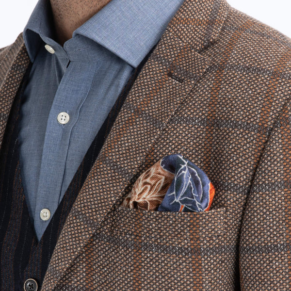 Camel Birdseye Check Jacket