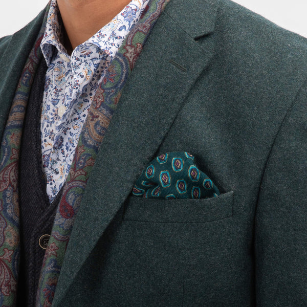 Teal Basketweave Jacket