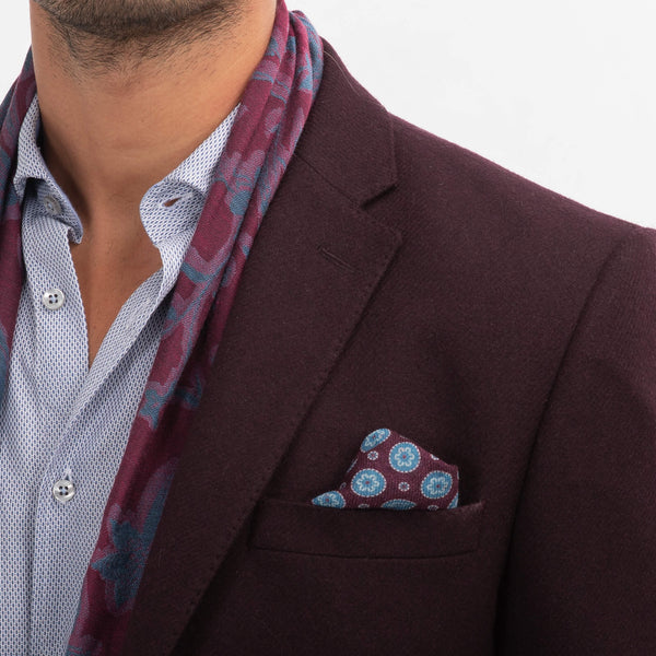 Burgundy Twill Jacket