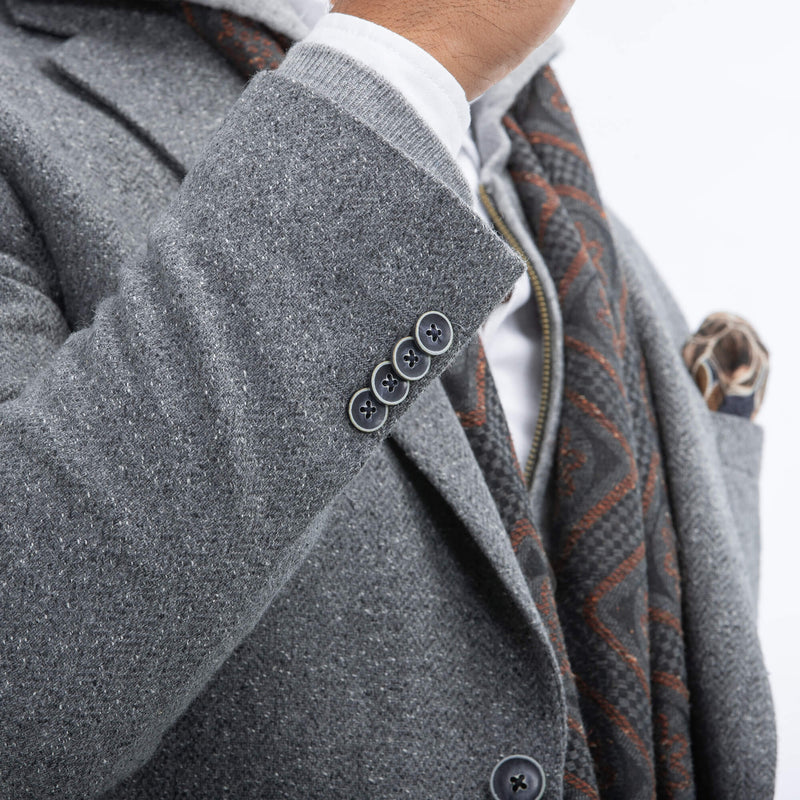 Silver Grey Speckled Herringbone Jacket