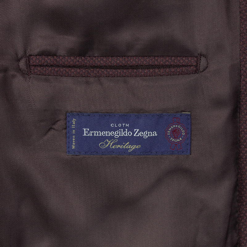 Cloth Ermenegildo Zegna Maroon Basketweave Jacket