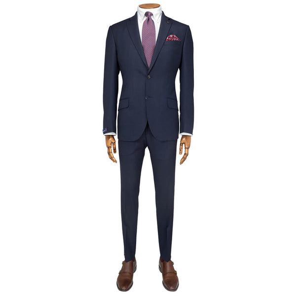 Cloth Ermenegildo Zegna Navy Chevron Suit - Gagliardi