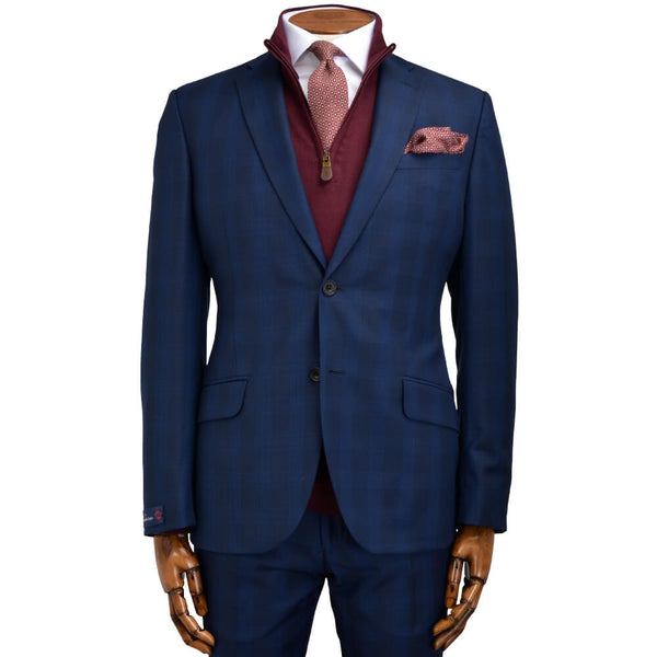 Cloth Ermenegildo Zegna Blue Tonal Check Suit