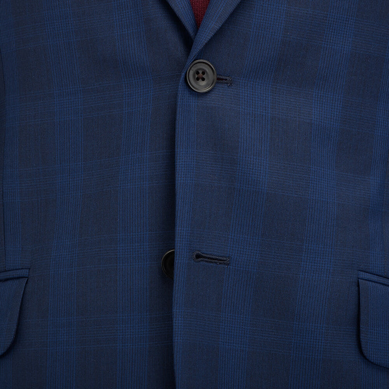 Cloth Ermenegildo Zegna Blue Tonal Check Suit - Gagliardi