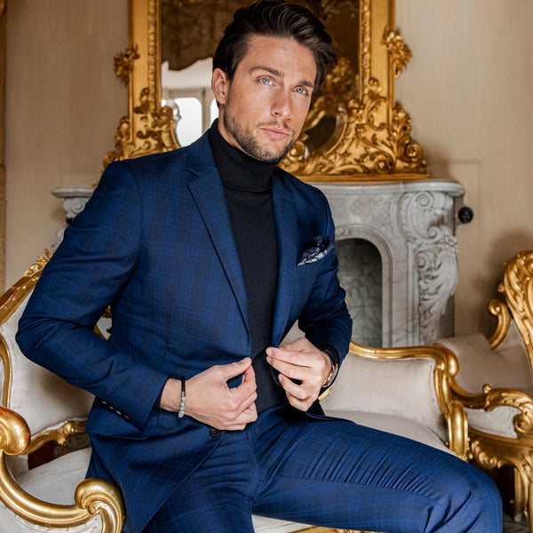 Navy Roll Neck - Gagliardi