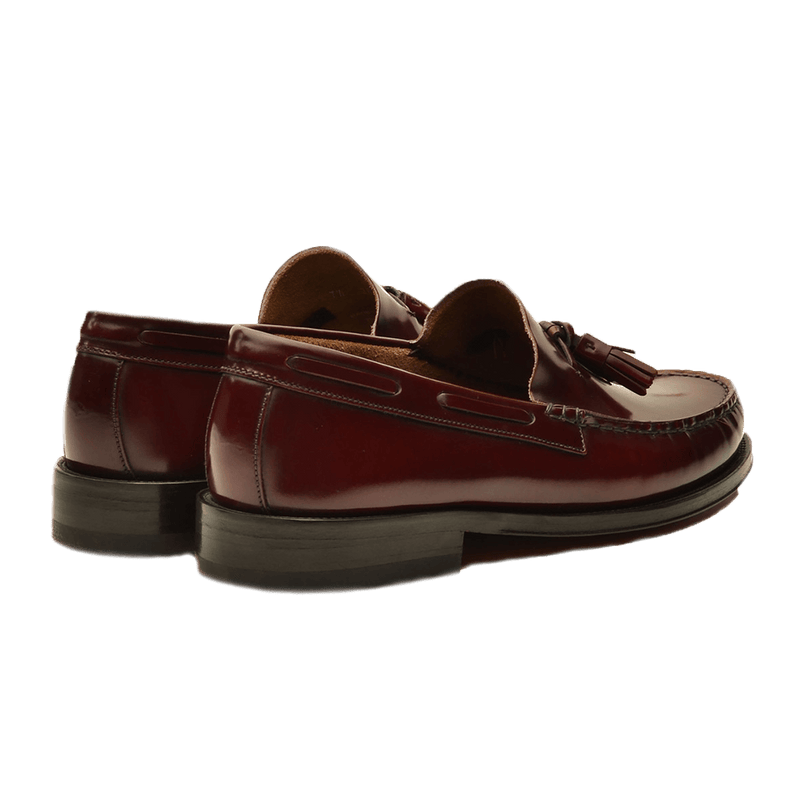 Burgundy Leather Moccasins