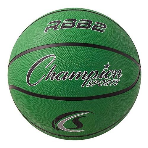 Champion Sports Rubber Basketballs - Junior 27.5 - Size 5 - Green